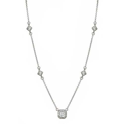 Sterling Silver Legacy Pendant with Bezel Cz's