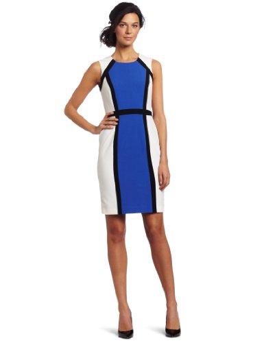 Calvin Klein Women's Petite Color Block Sheath Dress