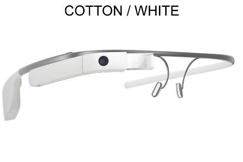 Google Glass Xe V2   Reading Glass Frame (4 Options) (Cotton White)
