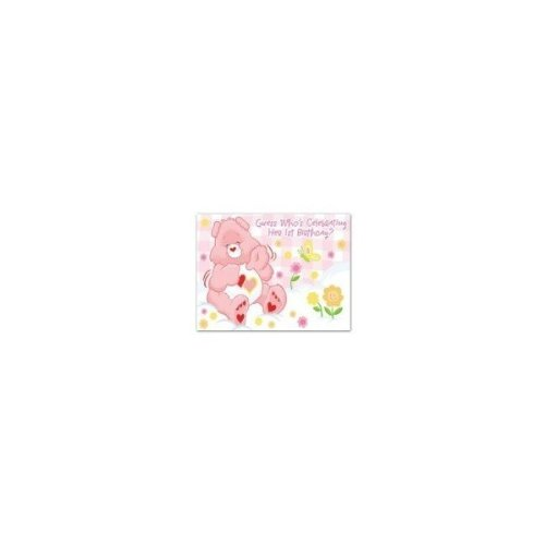 Care Bears Girl's First Birthday Invitations - 8 Count