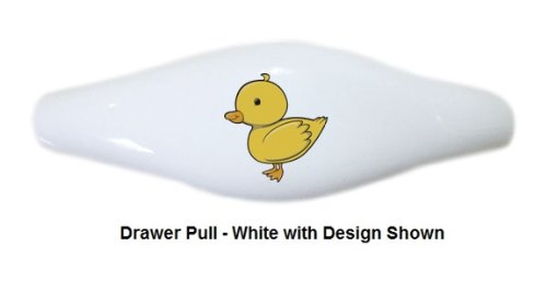 Set Of 2 Yellow Duck Ceramic Cabinet Drawer Pull Handle (Drawer Pull) front-1037389