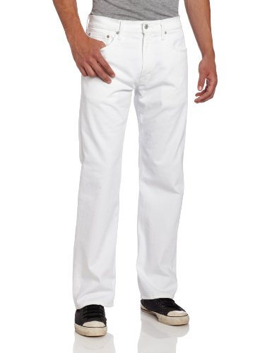 Levi's Men's 569 Loose Straight Leg Twill Pant, White, 36x32