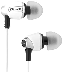 Klipsch IMAGE S4-WH In-Ear Enhanced Bass Noise-Isolating Headphone, White