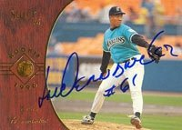 Livan Hernandez Florida Marlins 1996 Pinnacle Select Rookie Autographed Hand Signed... by Hall+of+Fame+Memorabilia