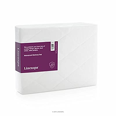 LINENSPA Hypoallergenic Waterproof Mattress Pad with Quilted Microfiber Cover