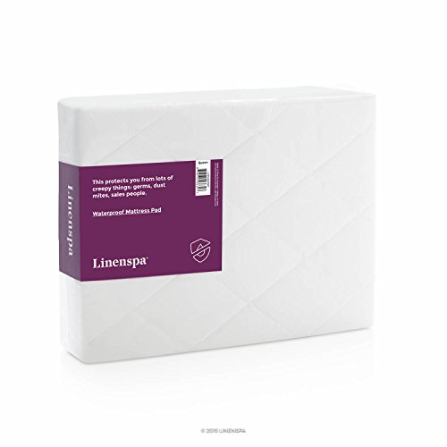 LINENSPA Waterproof Mattress Pad with Quilted Microfiber Cover - Full (Full Size Futon Sofa compare prices)