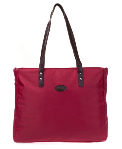 Bellotte Designer Shopper Tote Diaper Bag in Ruby