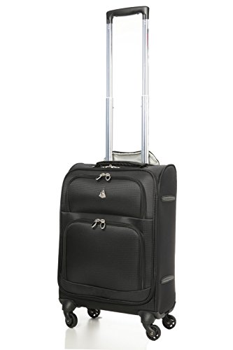 Aerolite Lightweight Upright Travel Trolley Bags Carry On Luggage Suitcase, 4 Wheel Spinner, 22x14x9