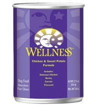 Wellness Chicken and Sweet Potato Canned Dog Food ( Value Bulk Multi-pack)