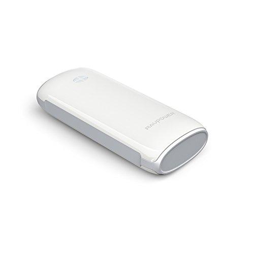 改良版RAVPower 6000mAh多彩シリーズ大容量モバイルバッテリー1年間の安心保証5V/2.1A出力iPhone6plus/6/5S/5C/5/4S・iPad Air/mini・apple社その他製品・Xperia・GALAXY S・softbank・au・docomo・各種タブレット・Wi-Fiルータ・各社Androidスマホ/ウォークマン等マルチデバイス(ホワイト)RP-PB17