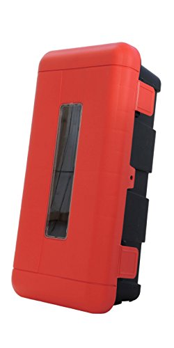 Feuerlscher-SchutzboxSchutzschrank-fr-6kg-oder-6l-Feuerlscher-Kunststoff-Sichtfenster-abschliebar