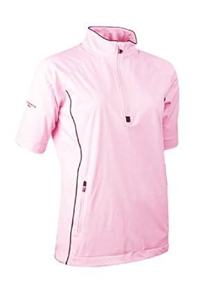 Glenmuir Ladies Zip Neck Half Sleeve Piped Golf Windshirt by Glenmuir