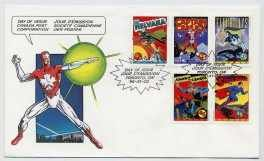 Canada Post First Day Of Issue (10/02/95) Superheroes Stamps (Scott # 1579 - 1583) (Canada Post compare prices)