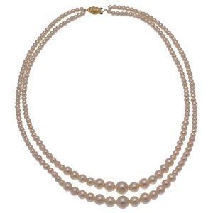 Gabriela 2 Strand Cream Pearl Necklace