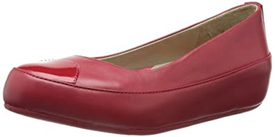 Fitflop Women's Due Leather Sandals, Red, 5 UK