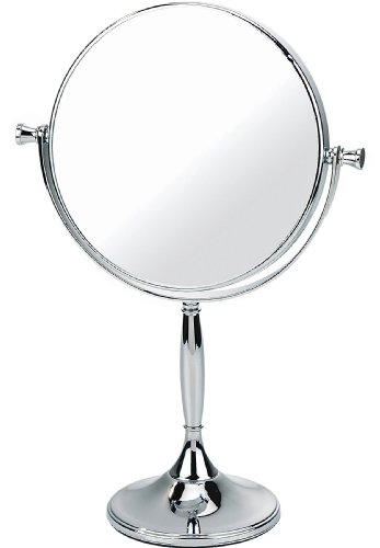 Chrome-Pedestal-Mirror-True-Image-x7-Magnfied-32cmx75cm