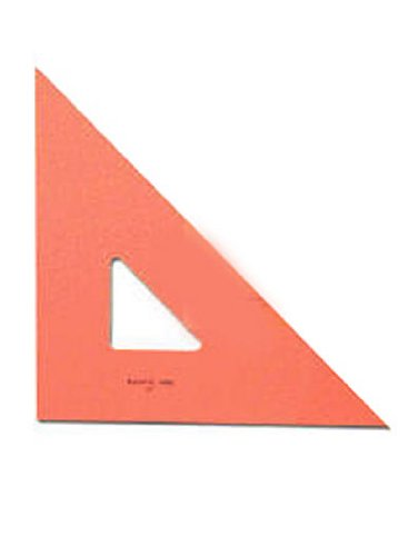 Pacific Arc Professional Fluorescent Triangles 12 In. 45/90 Degrees [Pack Of 2 ]