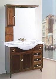 Arredo bagno arte povera + colonna anta vetro mobile da bagno composizione