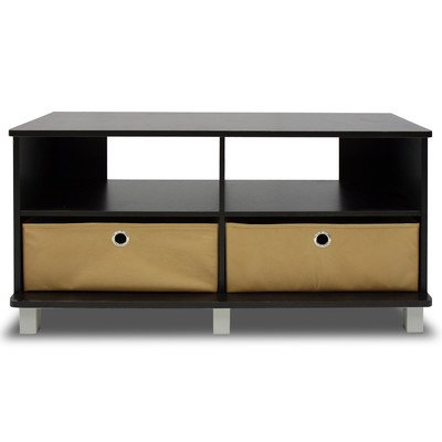 Furinno 11156EX/BR (99966R1E) Entertainment Center, Espresso Finish