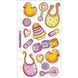 Sticko Vellum Stickers - Baby Girl