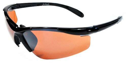 JiMarti JM01 Sunglasses for Golf, Fishing, Cycling-Unbreakable-TR90 (Black & Amber)