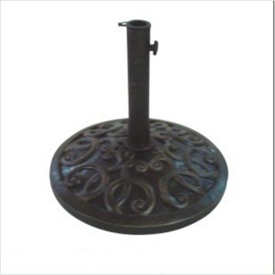 DC America UBP28281-BR Cast Stone Umbrella Base, Made from Rust Free Composite Materials, Bronze Powder Coated Finish