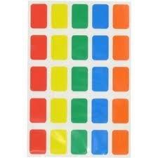 Ivy Etichette adesive colorate oblunghe, colori assortiti, confezione da 600 pezzi, misure: 12 x 18 mm