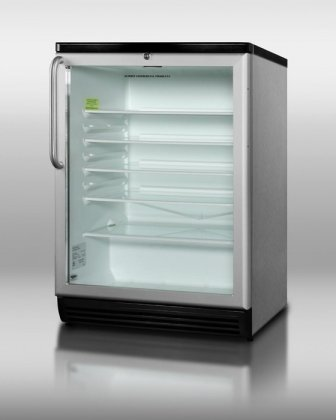 24 Inch Wide Refrigerator Stainless Steel front-473978