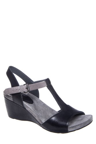 Bussola Malmo 1475 Mid Wedge T-Strap Sandal