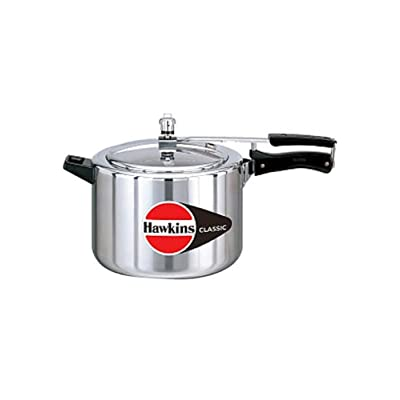 Hawkins Classic New Improved Small Aluminum Pressure Cooker, 8 Litres, Silver