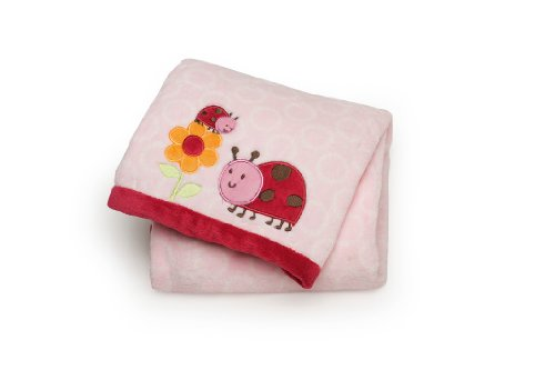 Carter's Easy Printed Embroidered Boa Blanket, Lady Bug (Discontinued by Manufacturer)