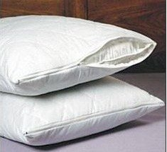 SET OF 2 NEW ZIPPERED QUILTED PILLOW COVERS - STANDARD SIZE
