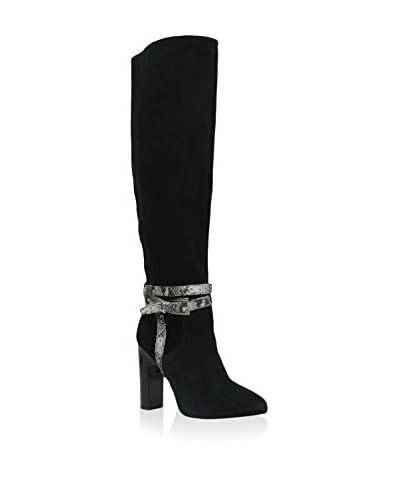 GINO ROSSI Stiefel schwarz/marine
