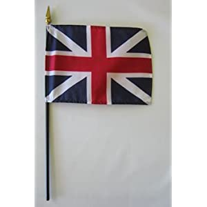 "King's Colors - British Union 4"" x 6"" Stick Flag"