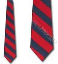 Red and Navy Blue Stripe ties college Neck Ties