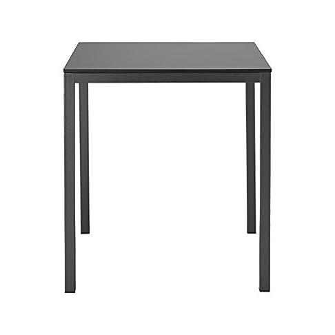 Scab Tavolo Quadrato Mirto 70 cm Gambe Verniciate Bianco Piano Antracite