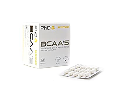 PhD Nutrition BCAA's, 195 Capsules