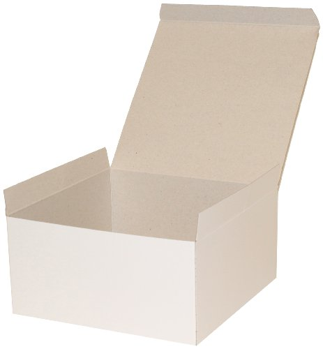 Premier Packaging AMZ-101045 10 Count Decorative Gift Box, 8 by 8 by 4-Inch, White