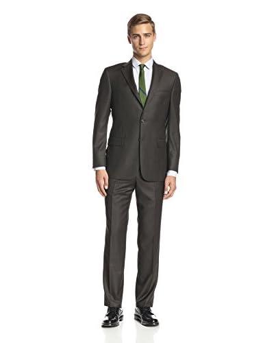 Hickey Freeman Men's Tonal Plaid Notch Lapel Suit