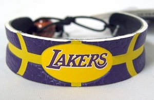 Los Angeles Lakers Team Color Basketball Bracelet by Hall of Fame Memorabilia