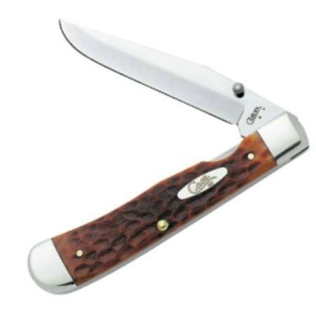 Case Cutlery 7010 Case Trapperlock Pocket Knife With Chrome Vanadium Blade   Chestnut Bone