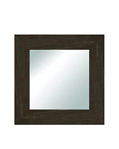 PTM Images Charcoal Reclaimed Wood Framed Accent Mirror, Black