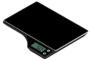 Duronic KS350 Digital Display Black Glass Platform 5KG Kitchen Scales and 2 Years FREE Warranty by Duronic