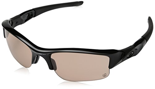 오클리 선글라스 Oakley Mens 플락 자켓 XLJ Rectangular Sunglasses,Polished Black & Transparent Lens