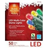 LED Multi-color Indoor/Outdoor Christmas Lights-50 bulbs and 16.4ft
