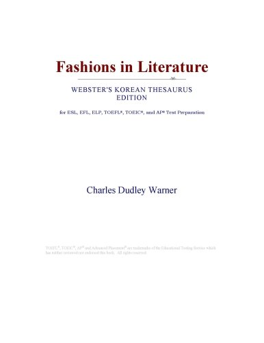 Fashions in Literature (Webster's Korean Thesaurus Edition)