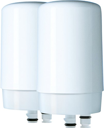 Brita On Tap Faucet Water Filter System Replacement Filters, White, 2 Count (Kitchen Filter Water Faucet compare prices)