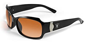 NFL Oakland Raiders Bombshell Sunglasses with Bag by Maxx