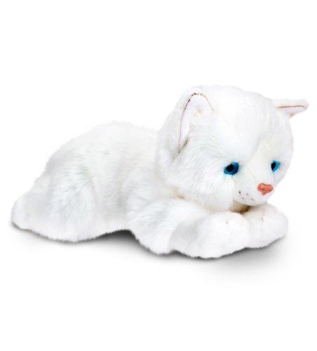 Original Keel Toys Plüschtier rein weiße Katze