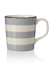 Hand-Painted Striped Mug